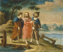 American 18th Century, Christ on the Road to Emmaus, c. 1725-1730, NGA 50692