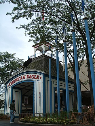 American Eagle (roller coaster) - The KIDZOPOLIS tent prior to 2007 was the entrance into American Eagle