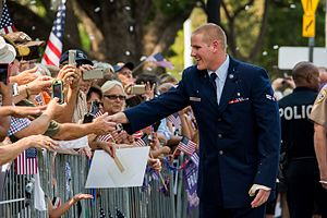 Spencer Stone - Stone is greeted with a hero's welcome during the Sacramento Hometown Heroes Parade and festivities at the State Capital building in downtown Sacramento, California on September 11, 2015