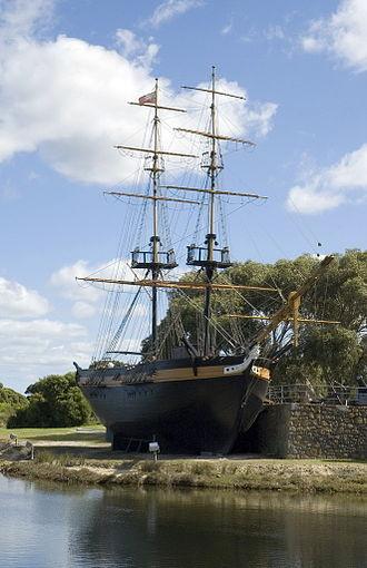 Edmund Lockyer - Replica of the brig Amity