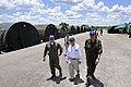 Amorim percorre acampamento da FAB montado no aeroporto de Cáceres (MT) (8101416148).jpg