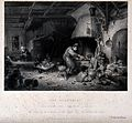 An alchemist with his family in their dim dwelling, working Wellcome V0025535.jpg