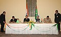 Anand Sharma and the Dy. Chairman, Cabinet of Turkmenistan, Mr. Hoja Muhamet Muhammedov signing agreement on cooperation in Economic and Trade Fields, in the presence of the President of Turkmenistan.jpg