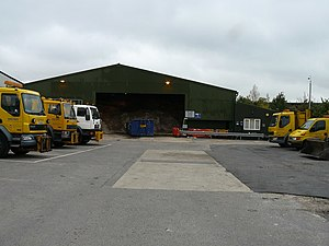 English: Andover - Road Salt Storage Depot Thi...