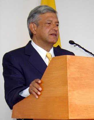 Andrés Manuel López Obrador - Obrador during a speech in October 2005