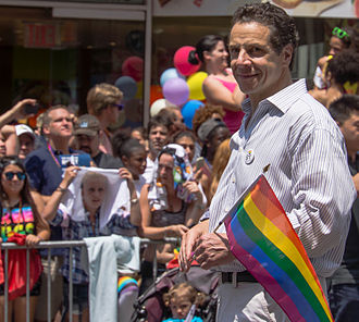 Andrew Cuomo - Cuomo at New York City's Gay Pride in 2013