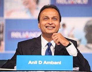 Anil Ambani Chairman of Reliance ADA Group