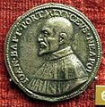 Anonimo, medaglia di giovanni battista porta, poeta napoletano.JPG