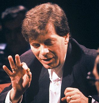 Tony Wilson - Hosting TV discussion After Dark in 1988