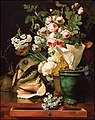 Antoine Berjon, Still Life With Flowers, Shells, a Shark's Head, and Petrifications (1819).jpg