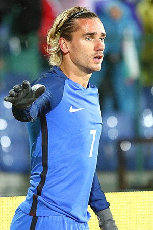 Antoine Griezmann - Griezmann playing for France in 2017
