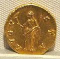 Antonino pio, aureo per faustina maggiore divinizzata, post 141, 01.JPG