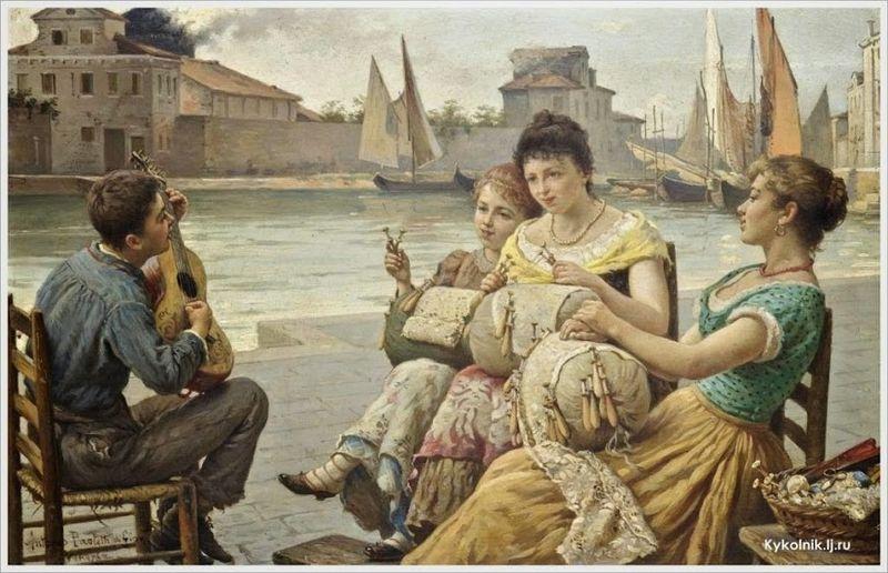 File:Antonio Ermolao Paoletti (Italian, 1834-1912) «A serenade for the lacemakers, Venice».jpg