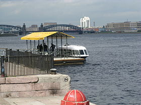 Aquabus at Sinopskaya waterfront.JPG