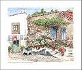 Aquarelle; la vieille maison fleurie. (4425013178).jpg