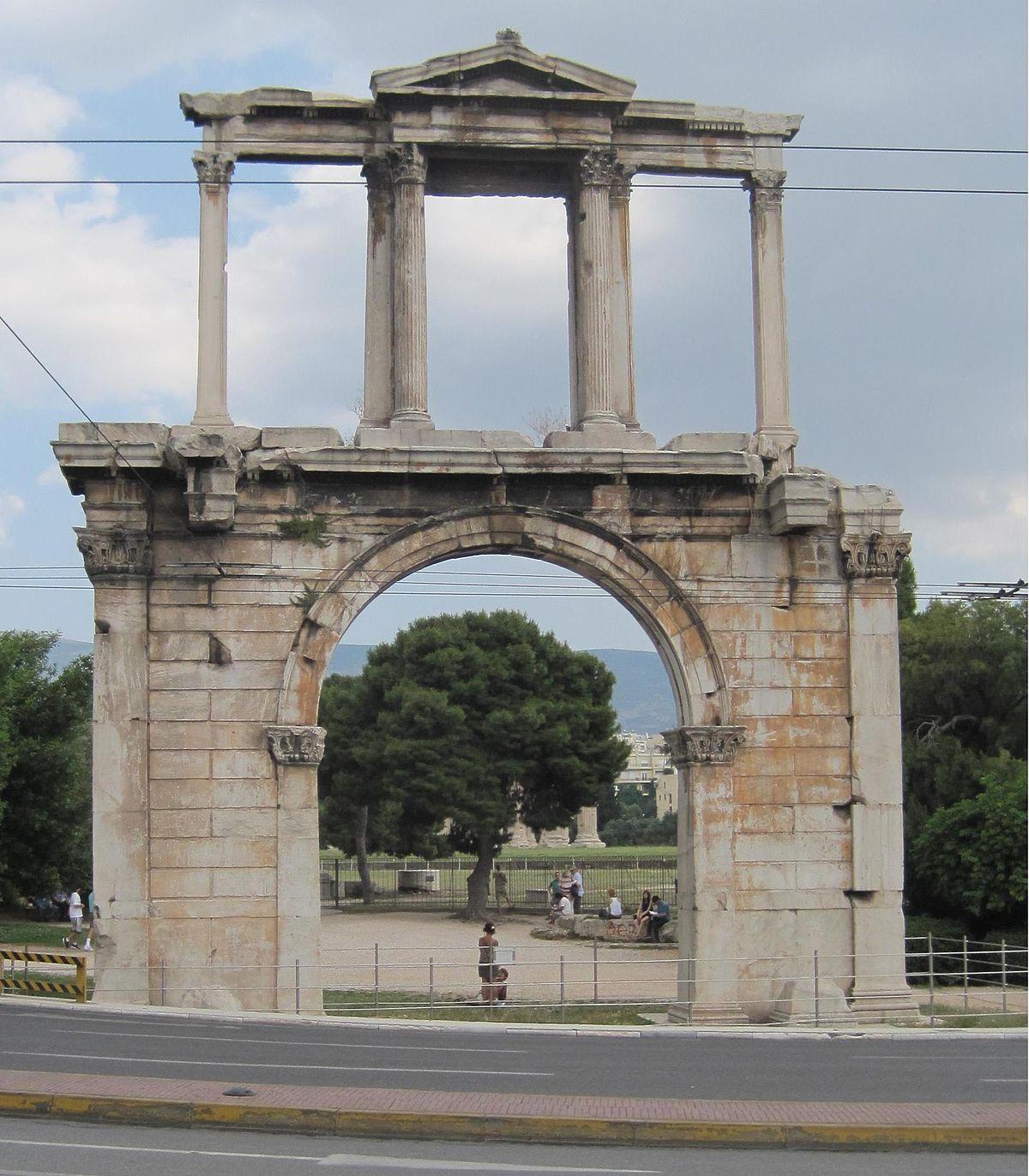 aa2955b935b Arch of Hadrian (Athens) - Wikipedia