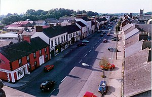 Ardee - View north along Market Street, from the battlements of Ardee Castle