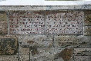 Arezzo War Cemetery - Inscription
