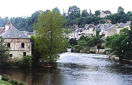 The Creuse river and surrounding buildings