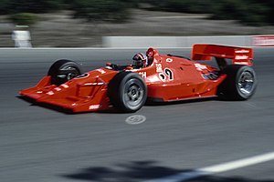 Doug Shierson Racing - Luyendyk driving the UNO/Granatelli car in 1991 at Laguna Seca