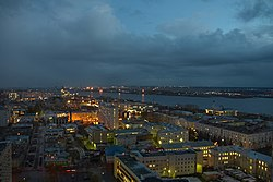 View of Arkhangelsk at twilight