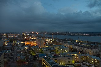 Arkhangelsk - View of Arkhangelsk at night