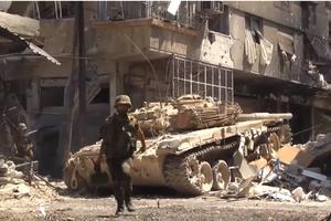 Daraa offensive (June–July 2015) - Image: Armée syrienne lors de combats urbain
