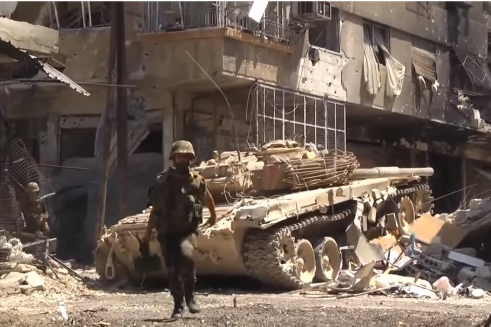 Armée syrienne lors de combats urbain