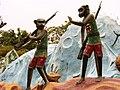 Armed monkeys, Haw Par Villa (Tiger Balm Theme Park), Singapore (41102156).jpg