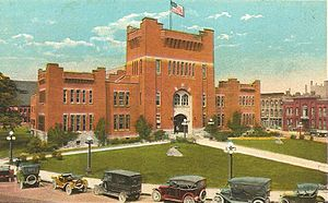 Armory Square - Vintage postcard of the Armory