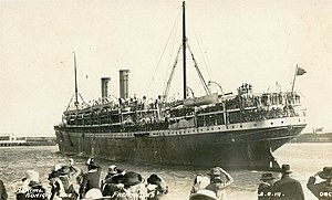 Arrival of 'Königin Luise' in Fremantle, W.A. - 3 August 1919 (24299353089).jpg