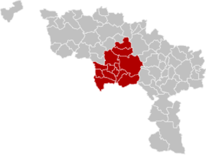 Arrondissement of Mons - Image: Arrondissement Mons Belgium Map
