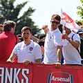 Arsenal players - FA Cup parade - Szczęsny, Ramsey (cropped).jpg