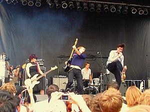 Bang Bang Rock & Roll - Art Brut - Pitchfork Festival 2006.  Left to right: Feedback, Jasper Future, Breyer and Argos.