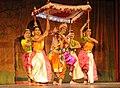 Artists performing dance drama based on the 'Geetgovindam', by Shri Jayadev, at the inauguration of the 60th Annual Arts Festival, at Kalakshetra, Chennai on December 21, 2012.jpg