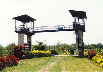 Asajaya District - A water gate in Asajaya.