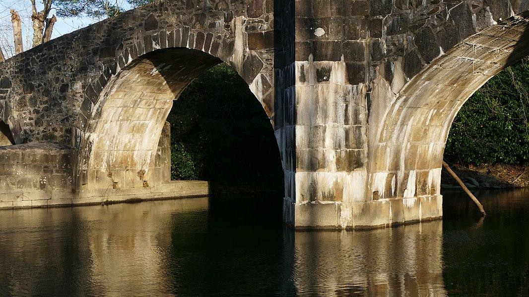 Roman bridge in Ascain (Pays Basque, Aquitaine, France).