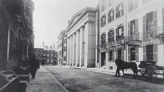 Mount Vernon Church, Boston - Mt. Vernon Church (built 1844), Ashburton Place, Boston, c. 1870s