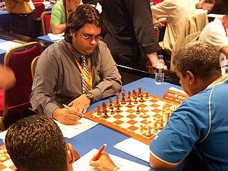 Fiji Chess Federation - Asheesh Gautam at Mallorca Chess Olympiad, 2004