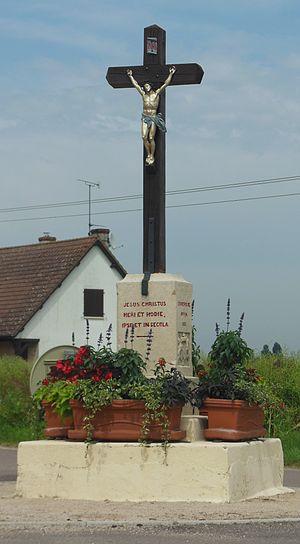 Athée, Côte-d'Or - Image: Athée (Côte d'Or), Croix 2