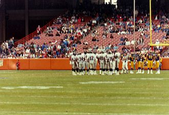 Angel Stadium - The Rams hosting a football game at Anaheim Stadium, 1991.
