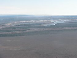 Attawapiskat Settlement between Attawapiskat River and James Bay