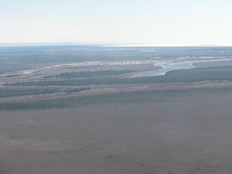 Attawapiskat First Nation - Attawapiskat Settlement between Attawapiskat River and James Bay