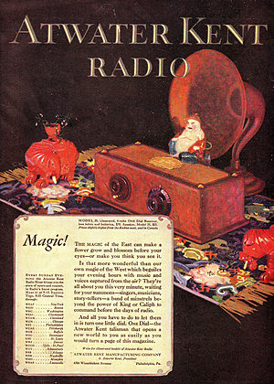 A. Atwater Kent - Ad for Atwater Kent Radio Model 35, 1927
