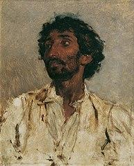 Brustbild eines Zigeuners