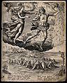 Aurora and Apeliotes. Engraving by J. Sadeler after M. de Vo Wellcome V0035915.jpg