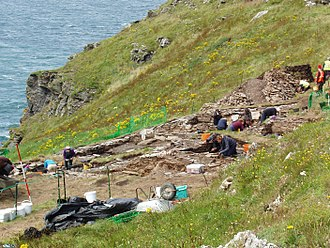 Tintagel Castle - Excavation in August 2017