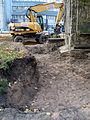 Aushub per Bagger 1m Alter St. Nikolai-Friedhof Nikolaikapelle Hannover, 07 Blick Richtung Freundeskreis Hannover, 2.JPG