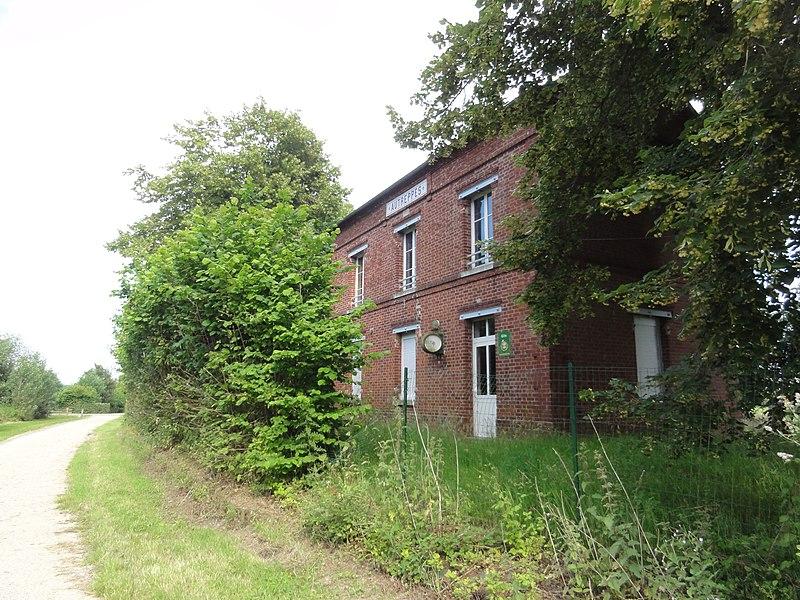 Autreppes (Aisne) Axe vert, ancienne gare