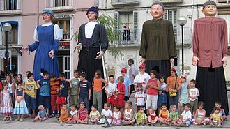 Ayerbe - Some of Ayerbe's Giants which parade every year as part of the Feast of Santa Leticia.
